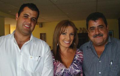 Luis Diego Giralt, Marisol Soto y Luichi Giralt.
