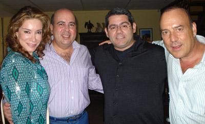 Ana María Villeda, Eduardo Kaffati, Manuel Peña y René Picado.
