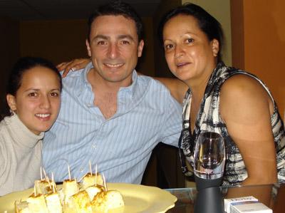 María Fernanda Guzmán, Oscar y Lilliana Mora