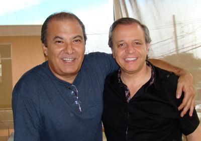 Alfredo Moreno y el cantante chileno Alberto Plaza.