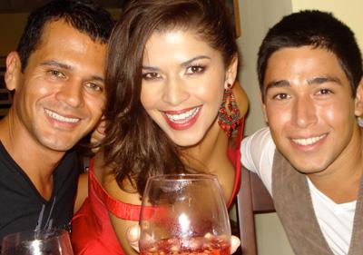 Alex Murillo, Laura Rodríguez y Carlos Jiménez.