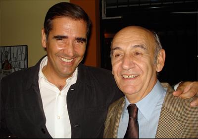 El periodista Ignacio Santos y el juez Martín Aldaburu.