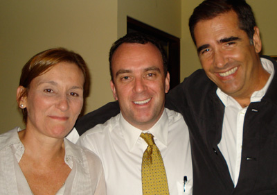 Gabriela Capón, Ricardo Taylor e Ignacio Santos.