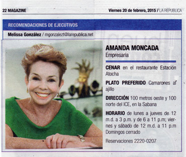 Amanda Moncada recomienda Estación Atocha de SABANA NORTE